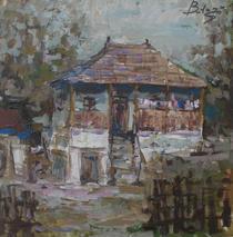 Casa la tara, pictura de Vitalie Butescu
