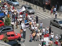 Protestatarii, pe Calea Victoriei
