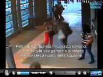 Romanul si sotia lui intra in fuga in statia de metrou