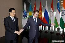 Hu Jintao si Dmitri Medvedev
