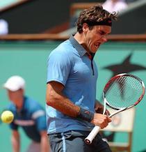 Roger Federer, triumfator la Roland Garros