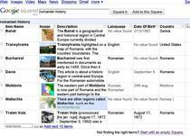 Cautare despre istoria Romaniei pe Squared