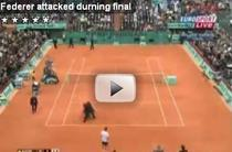 Roger Federer, atacat de un fan