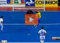 Gol Brazilia - Romania la futsal