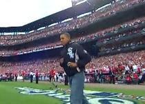 Barack Obama pe stadionul Busch