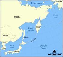 Locatia Kurilelor in estul Pacificului