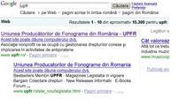 Avertismente Google legate de site-ul UPFR