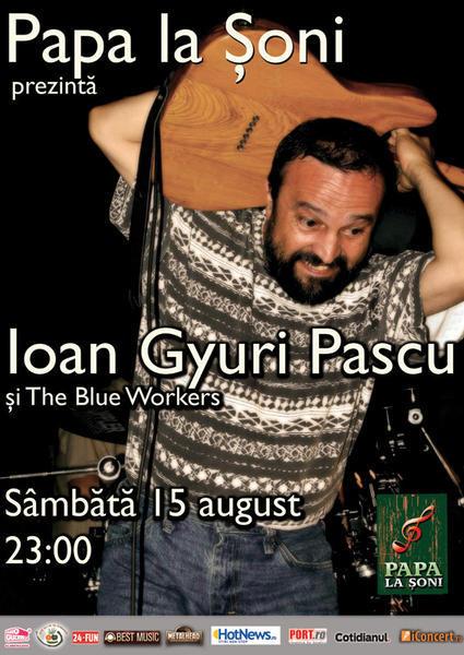 afis Ioan Gyuri Pascu si The Blue Workers