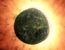 Coliziune intre doua planete in formare