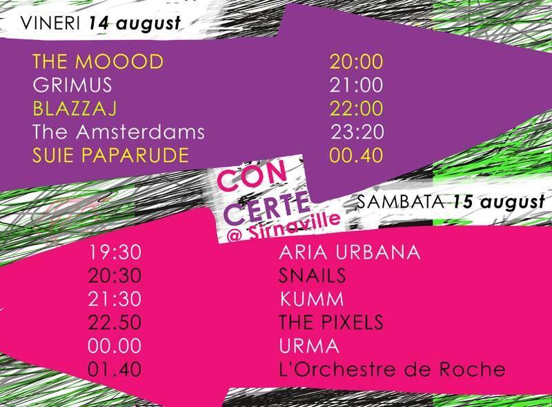 Program concerte live Sirnaville