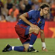 Zlatan Ibrahimovic mai are de munca la Barcelona.
