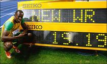Bolt, un nou record mondial