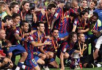 Barcelona sarbatoreste castigarea SuperCupei Spaniei.