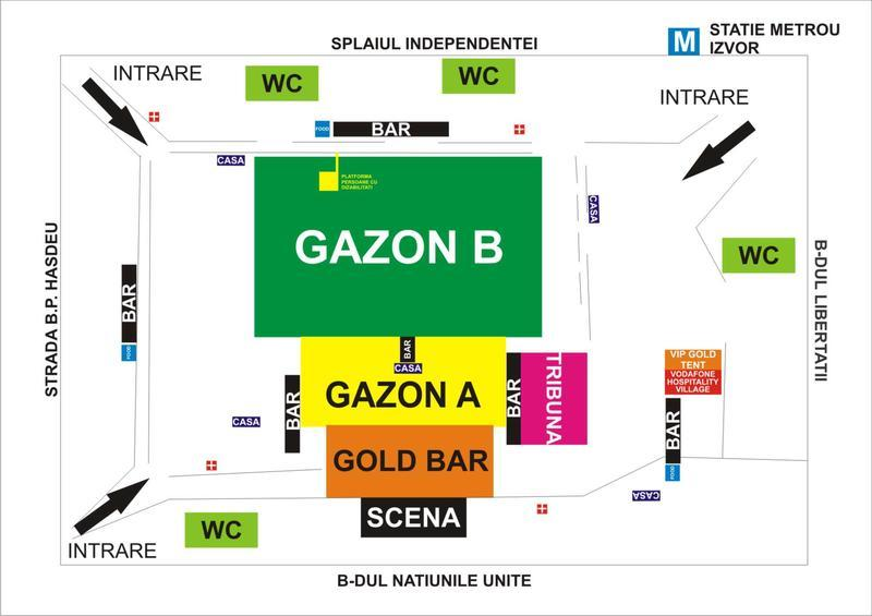 harta Parcul Izvor - concert Madonna