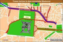 Trasee inchise in ziua concertului Madonnei