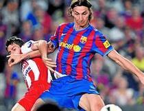 Ibrahimovic, primul gol pentru Barca
