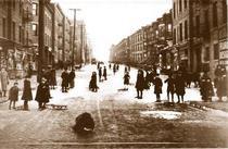 Copii cu sania in Brooklyn, 1924