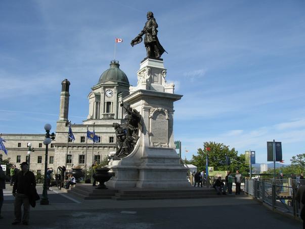 Champlain priveste orasul Québecul
