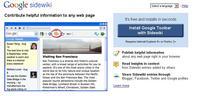 Google lanseaza Sidewiki