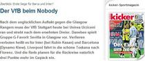 Kiker: VfB contra nimeni