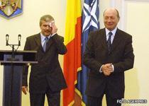 Imagine din 12 februarie 2009, de la ceremonia de instalare a vicepremierului Dan Nica in functia de ministru al Internelor
