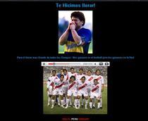 """""""Plangaciosul"""" Maradona"""
