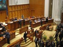 Parlamentarii, la votarea motiunii
