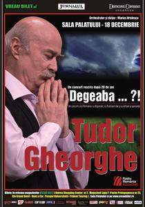 "afis Tudor Gheorghe - ""Degeaba...?!"""