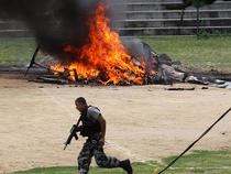 Un elicopter al Politiei a fost doborat cu focuri de arma la Rio