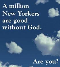 Campanie ateista la New York