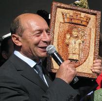 Traian Basescu la Sannicolau Mare