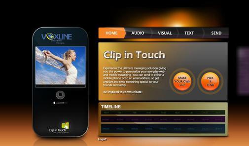 Interfata Clip in Touch