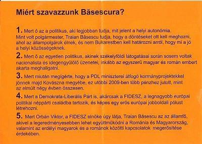 Fluturas al lui Basescu pt Secuime (2)
