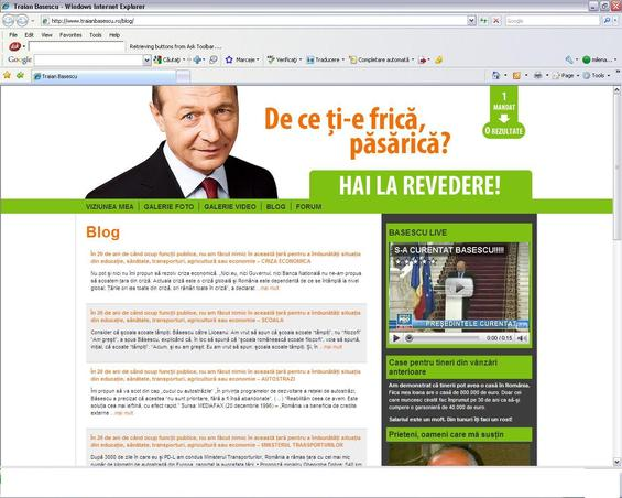 Site-ul presedintelui, hackuit