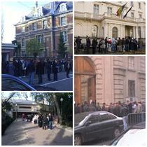 Coada la votare in Bruxelles, Londra, Castellon si Paris