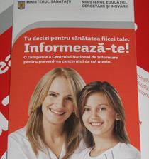 Afisul campaniei anti-HPV