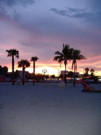 Rasarit de soare - plaja Miami Beach
