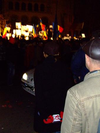 Realitatea TV reflectand mitingul din Bucuresti (2)
