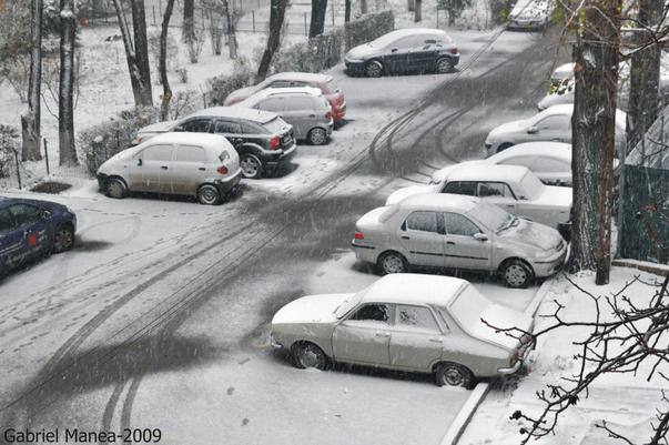 Ninsoare in Bucuresti