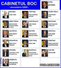 Cabinetul Boc - decembrie 2009