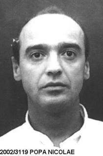 Nicolae Popa in poza de urmarit general, postata pe site-ul Politiei
