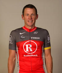 Armstrong, in tricoul echipei RadioShack
