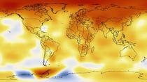 Harta schimbarilor de temperatura in ultimul deceniu