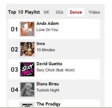 Anda Adam si Inna pe podiumul Dance al Number One FM