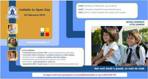 Invitatie Open Day Little London