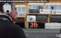 Michael Schumacher, pe circuitul de la Valencia