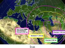 Raza de actiune a rachetelor iraniene