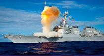 Distrugator american dotat cu sistemul AEGIS lanseaza un interceptor SM-3