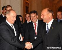 Traian Basescu si Vladimir Putin