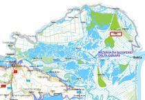 Letea pe harta judetului Tulcea